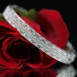 925S Tacori White Topaz Wide Stunning Bracelet